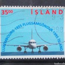 Sellos: ISLANDIA 1995, 50 ANIVERSARIO AVIACION ISLANDESA SELLO USADO. Lote 261518615