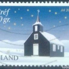 Selos: ISLANDIA 2001 NAVIDAD SELLO USADO. Lote 262698130