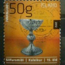 Sellos: ISLANDIA 2012 ARTE SELLO USADO. Lote 265687359