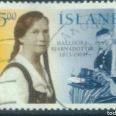 Sellos: ISLANDIA 1998 CELEBRIDADES SELLO USADO. Lote 265689189