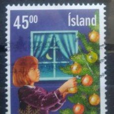 Selos: ISLANDIA 2003 NAVIDAD SELLO USADO. Lote 265883423