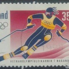 Selos: ISLANDIA OLIMPIADAS DE INVIERNO NAGANO 1998 SELLO USADO. Lote 265883993
