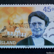 Selos: ISLANDIA 2002 CELEBRIDADES SELLO USADO. Lote 265884458