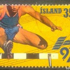 Sellos: ISLANDIA MUNDIAL DE ATLETISMO 1997 SELLO USADO. Lote 266076563