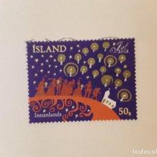Sellos: AÑO 2012 ISLANDIA SELLO USADO CON PAPEL. Lote 266841884