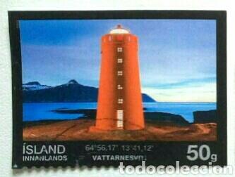 ISLANDIA 2015 FAROS SELLO USADO (Sellos - Extranjero - Europa - Islandia)
