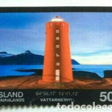 Sellos: ISLANDIA 2015 FAROS SELLO USADO. Lote 266841914