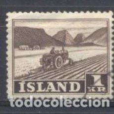Sellos: ISLANDIA, 1950/57, USADO, CHARNELA. Lote 269166403