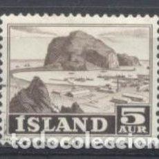 Sellos: ISLANDIA, 1950/57, USADO, CHARNELA. Lote 269166453