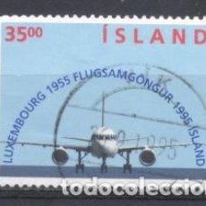 Sellos: ISLANDIA, 1995, USADO,. Lote 269166628