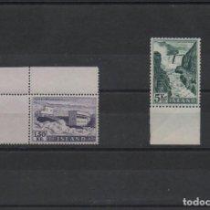 Sellos: LOS DOS VALORES CLAVE DE LE SERIE DE ELECTRIFICACIÓN DE ISLANDIA DE 1956. Lote 269447503
