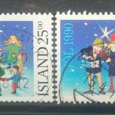 Sellos: ISLANDIA 1990 NAVIDAD SERIE DE SELLOS USADOS. Lote 270995318