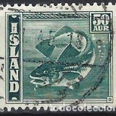 Sellos: ISLANDIA 1943 - FAUNA, PECES, BACALAO - USADO. Lote 272135298