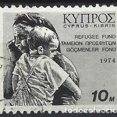 Sellos: CHIPRE GRIEGO 1974 - SELLO DE IMPUESTOS, PRO REFUGIADOS - USADO. Lote 272135758