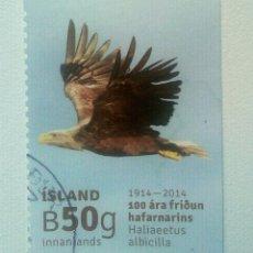 Sellos: ISLANDIA AVES PIGARGO EUROPEO. Lote 272333298