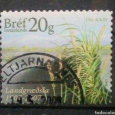 Sellos: ISLANDIA 2007 NATURALEZA SELLO USADO. Lote 272554773