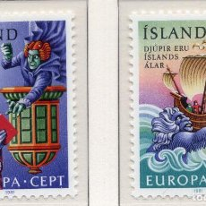 Sellos: ISLANDIA, 1981 , MICHEL , 565-566. Lote 274618033