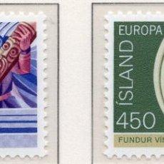 Sellos: ISLANDIA, 1982 , MICHEL , 578-579. Lote 274618163