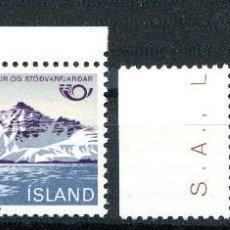 Sellos: ISLANDIA, 1983 , MICHEL , 596-597. Lote 274618303