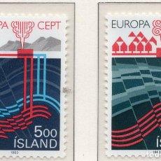 Sellos: ISLANDIA, 1983 , MICHEL , 598-599. Lote 274618413