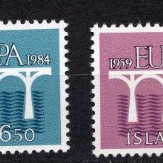 Sellos: ISLANDIA, 1984 , MICHEL , 614-615. Lote 274618473