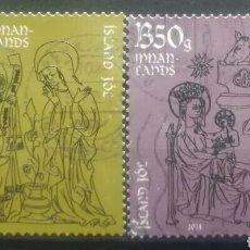 Timbres: ISLANDIA 2014 NAVIDAD SERIE DE SELLOS USADOS. Lote 275535663