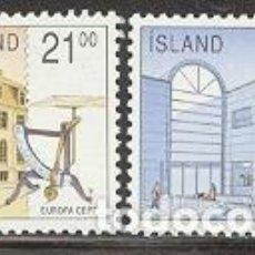 Sellos: SELLOS NUEVOS DE ISLANDIA 1990, YT 679/ 80. Lote 276364113