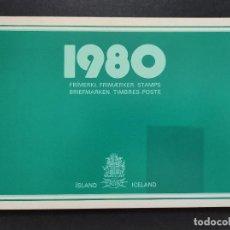 Sellos: SELLOS OFERTA CARPETA OFICIAL ISLANDIA AÑO 1980 EN NUEVO VER FOTOGRAFÍAS. Lote 283675583