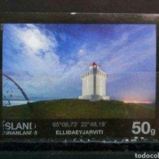 Sellos: ISLANDIA 2015 FAROS SELLO USADO. Lote 287186363
