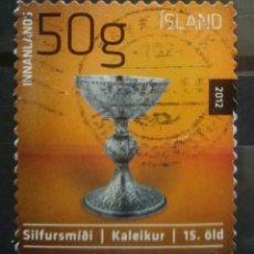 Sellos: ISLANDIA 2012 ARTE SACRO SELLO USADO. Lote 287186603