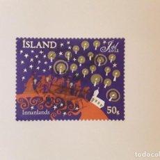 Sellos: AÑO 2012 ISLANDIA SELLO USADO. Lote 287841313