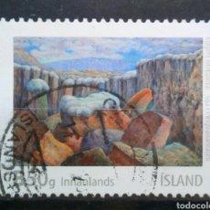 Sellos: ISLANDIA 2013 ARTE PINTURA SELLO USADO. Lote 288414948