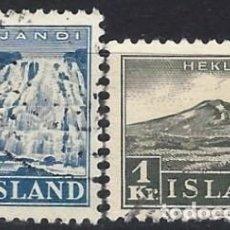 Sellos: ISLANDIA 1935 - TURISMO, S.COMPLETA - USADOS. Lote 288706393