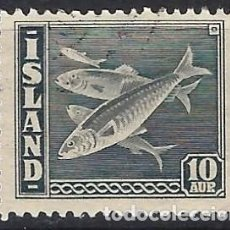 Sellos: ISLANDIA 1945 - VALOR EXTRA, ARENQUES - USADO. Lote 288706673