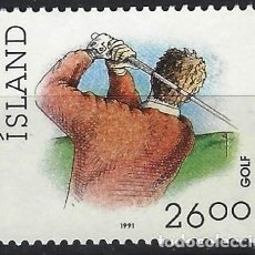 Sellos: ISLANDIA 1991 - DEPORTES, GOLF - MSG. Lote 288707453