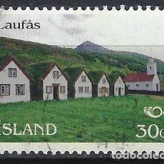 Sellos: ISLANDIA 1995 - EMISIÓN NORDEN 95 - TURISMO, LAUFÁS - USADO. Lote 288707848