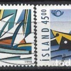 Sellos: ISLANDIA 1998 - EMISIÓN NORDEN 98, NAVEGACIÓN, S.COMPLETA - USADOS. Lote 288708178