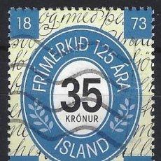 Sellos: ISLANDIA 1998 - 125º ANIVERSARIO DEL SELLO ISLANDÉS - USADO. Lote 288708368