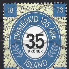Sellos: ISLANDIA 1998 - 125º ANIVERSARIO DEL SELLO ISLANDÉS - USADO. Lote 288708403