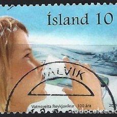Sellos: ISLANDIA 2009 - CENTENARIO DE LA CÍA. DE AGUAS DE REYKYJAVIK - USADO. Lote 288708918