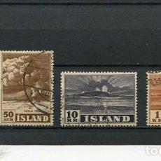 Sellos: SELLOS ANTIGUOS DE ISLANDIA VOLCANES EUROPEOS. Lote 289019058
