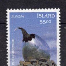 Sellos: ISLANDIA 1993 EUROPA , MICHEL 787. Lote 291579328