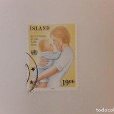 Sellos: AÑO 1988 ISLANDIA SELLO USADO. Lote 295785803