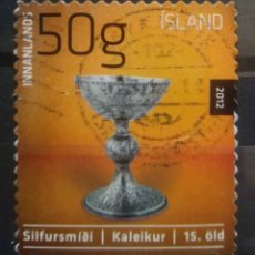 Sellos: ISLANDIA 2012 ARTE SACRO SELLO USADO. Lote 296787828