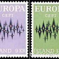 Sellos: SELLOS NUEVOS DE ISLANDIA 1972, YT 414/ 15. Lote 296890993