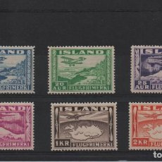 Sellos: PREIOSA SERIE AÉREA NUEVA COMPLETA DE ISLANDIA DE 1934. Lote 297234253