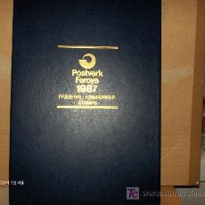 Sellos: FEROE ----- LIBRO ANUAL 1987. Lote 22752535