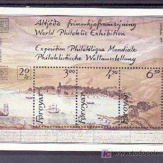 Sellos: FEROE HB 2 SIN CHARNELA, BARCO, HAFNIA 87 EXPOSICION FILATELICA MUNDIAL EN COPENHAGUE. Lote 11737649