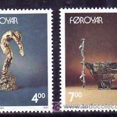 Sellos: FEROE 240/1 SIN CHARNELA, TEMA EUROPA 1993, ARTE CONTEMPORANEO, ESCULTURA, . Lote 8322602