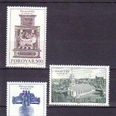 Sellos: FEROE 173/5 SIN CHARNELA, RELIGION, BICENTENARIO DE LA IGLESIA DE TORSHAVN,. Lote 11875482